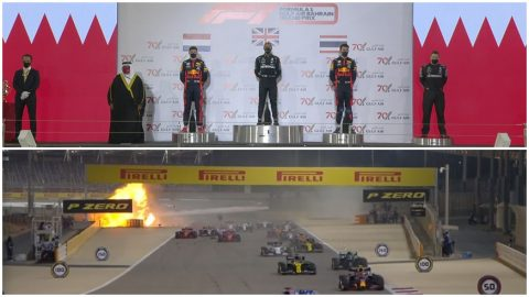 Lewis Hamilton ganó accidentado GP en Sakhir
