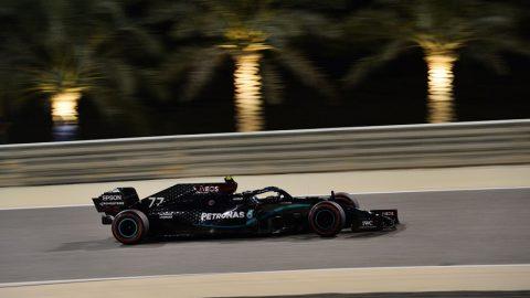 Valtteri Bottas lideró apretada clasificación en Sakhir
