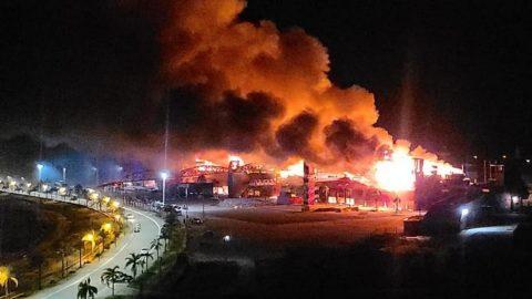 Incendio destrozó instalaciones en Termas