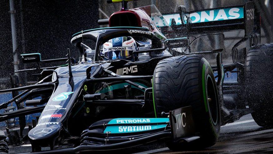 Valtteri Bottas reguló un sólido triunfo en mojado